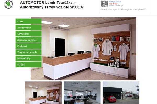 Tvorba webových stránek pro autorizovaný servis Škoda Auto